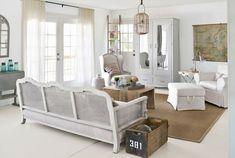Shabby Chic Wohnzimmer Wohnideen Sofa Holz Möbel