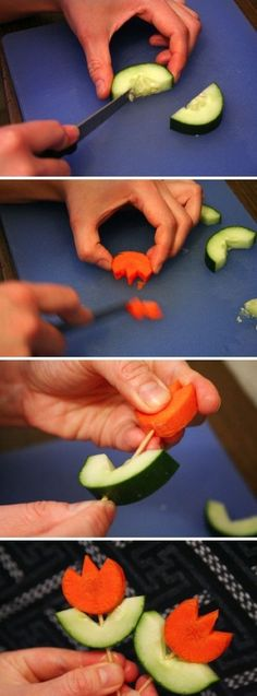 diy veggie flower