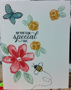 Stampin' Up! handmade card, Garden in Bloom, Delightful Dijon, Mint Macaron, Watermelon Wonder
