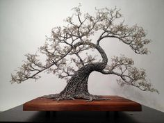 "Check out our internet site for more information on ""metal tree wall decor"". It is actually an excellent area to read more. Wire Tree Sculpture, Sculpture Art, Wire Sculptures, Metal Tree Wall Art, Metal Art, Bonsai Wire, Tableau Design, Plantas Bonsai, Painting Shower"