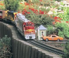 Gardening and Trains! Love it.