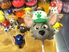 Paw Patrol Cake Pops we did this past weekend for a Birthday Party! #lilcutiepops #cakepops