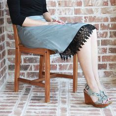Extender Slip: Black Venice Lace $28.00   For those of us who are old enough to remember, and wear them still....