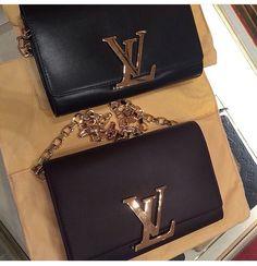 Black LV clutch bag