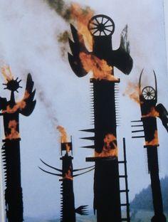 Wladyslaw Hasior, Flaming angels on ArtStack #wladyslaw-hasior #art
