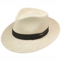 Men's 1940s Stetson Retro Hat - Panama Straw Fedora Hat $64.98 AT vintagedancer.com