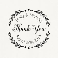Thank You Wedding Stamps  Wedding Favor Stamps  by DivineStamps