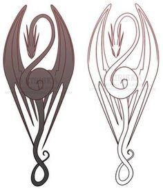 Dragon Tattoo by Kiriska Eagle Tattoos, Pin Up Tattoos, Trendy Tattoos, Popular Tattoos, Life Tattoos, Tribal Tattoos, Tattoos For Guys, Tatoos, Poker Tattoos