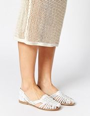 New Look Lolita Weave Gladiator Leather Flat Shoes