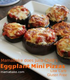 Eggplant Mini Pizza - Paleo/Low Carb/GF!