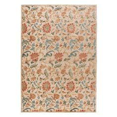 Floral rug.Product: Rug    Construction Material: 70% Acrylic and 30% polypropylene    Color: Light go...