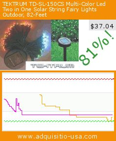 TEKTRUM TD-SL-150CS Multi-Color Led Two in One Solar String Fairy Lights Outdoor, 82-Feet (Tools & Home Improvement). Drop 81%! Current price $37.04, the previous price was $200.00. https://www.adquisitio-usa.com/tektrum-development-corp/tektrum-82-feet-long-150