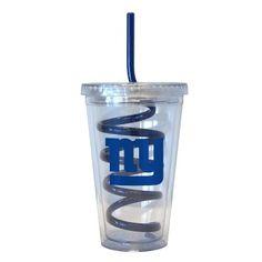 New York Giants Swirl Straw Tumbler