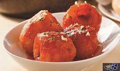 البطاطا المحشية بصلصة الطماطم: المكونات البطاطاالمحشية بصلصة الطماطم  2 كجم من البطاطا مستديرة الشكل 500 جم منلحم الخروفأو…