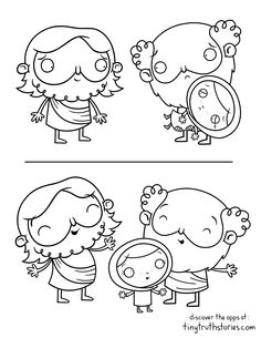 Colouring page: Jesus always invites us to follow him
