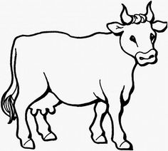 Realistic Cow Coloring Pages from Animal Coloring Pages category. Printable coloring sheets for kids you could print and color. Check out our collection and print the coloring sheets free of charge. Farm Animal Coloring Pages, Coloring Book Pages, Printable Coloring Pages, Coloring Pages For Kids, Boy Coloring, Coloring Sheets, Free Coloring, Cow Drawing, Line Drawing