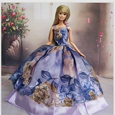 Prinses+Jurken+Voor+Barbie+Doll+Licht+Paars+Jurken+–+EUR+€+4.89