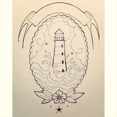 junglegiordi #traditional #lighthouse #tattoo #flash Giordana Sauli artwork