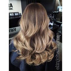 beautiful long wavy hair ~ big curls ~ ombre ~ brombre ~ blonde + ombre
