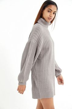 2d20df940da Slide View  2  UO Jill Turtleneck Sweater Mini Dress Grunge Fashion
