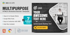 HTML5 Business Banners - GWD - 7 Sizes(BEE-073)