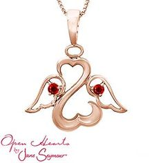 Personalize Your Open Hearts by Jane Seymour® Angel Necklace