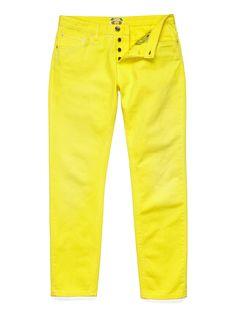 Gant bright yellow dyed denim