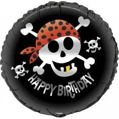 Find Pirate Birthday 18 Foil Balloon (Each) and other All Parties party supplies. The most popular party Supplies and Decorations, all available at wholesale prices! Happy Birthday Boy, Happy Birthday Balloons, Happy Birthday Parties, Pirate Birthday, Pirate Theme, Birthday Ideas, Clear Balloons With Confetti, Helium Balloons, Foil Balloons