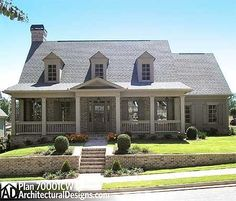 Option for Five Bedrooms and a Loft - 70001CW | Cottage, Country, Southern, Traditional, Photo Gallery, 1st Floor Master Suite, Butler Walk-in Pantry, CAD Available, Den-Office-Library-Study, Jack & Jill Bath, Loft, PDF | Architectural Designs