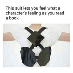 In any one of my fave books, i'm screaming in pain<<<I NEED THIS SUIT MORE THAN I NEED FOOD... THATS HONOR