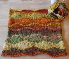 Such a perfect pattern for Noro. wow.