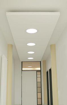 Entrance area with 4 daylight _ Solatube 160 DS systems - Home Decor -DIY - IKEA- Before After Gypsum Ceiling Design, Interior Ceiling Design, House Ceiling Design, Ceiling Design Living Room, Bedroom False Ceiling Design, Ceiling Light Design, Home Ceiling, Home Room Design, Ceiling Decor