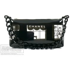 CHANEL - Authentic Chanel Vinyl Pochette - LUXURY EXCHANGE ™ Authentic... ❤ liked on Polyvore featuring bags, handbags, chanel, chanel bags, bags 2, purses, hand bags, vinyl handbags, chanel purse and man bag