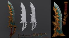 Lowpoly Sword with hand paint texture.