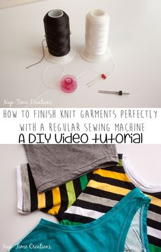 How to create the perfect knit hem with a regular sewing machine - A sewing tutorial from Nap-Time Creations