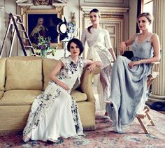Ladies of Downton Abbey by Alexi Lubomirski for Harper's Bazaar UK August 2014