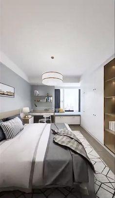 +20 Bedroom Ideas Small Room Design Bedroom, Small Bedroom Interior, Modern Luxury Bedroom, Small House Interior Design, Bedroom Furniture Design, Home Room Design, Luxurious Bedrooms, Bedroom Layouts, Bedroom Ideas