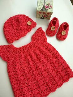 A Cor da Lã: Vestidinhos para Bebé em Crochet