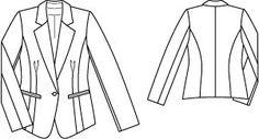 Fitted blazer, free pdf pattern
