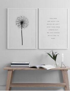 Schönes Botanik-Poster in Schwarz-Weiß. Home Decor Wall Art, Living Room Decor, Office Wall Art, Dining Room, Room Inspiration, Interior Inspiration, Bedroom Wall, Bedroom Decor, Art For Bedroom