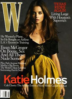 Yannick D'is Hair for Katie Holmes on the cover of W Magazine