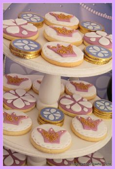 Decorated cookies at a Princess Sofia Birthday Party!  See more party ideas at CatchMyParty.com!