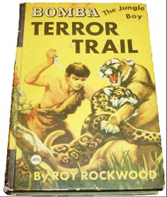 Cover illustration for the Bomba book, Terror Trail