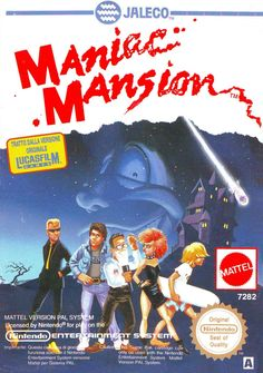 Maniac Mansion NES cover. Loved it.