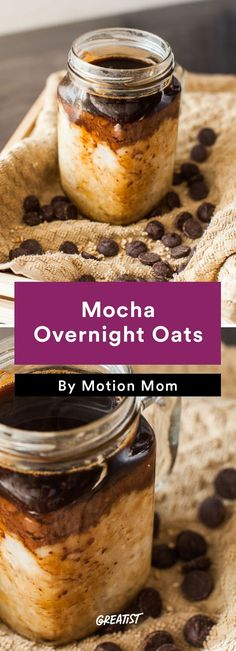 2. Mocha Overnight Oats #easy #coffee #recipes http://greatist.com/eat/coffee-recipes-that-use-your-leftover-cup