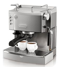 Espresso Machine with Frothing Nozzle for Cappuccino. Achieve the most authentic flavor with the DeLonghi EC 702 Pump Espresso Maker. Enjoy delicious espresso made your way with De'Longhi's pump espresso and cappuccino maker. Best Home Espresso Machine, Espresso Machine Reviews, Best Espresso, Espresso Coffee, Coffee Cafe, Best Coffee, Espresso Kitchen, Best Latte Machine, Nyc Coffee