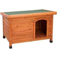 Get it all with the Ware Ultimate Dog House! The Ultimate Dog House features a waterproof shingle roof, adjustable waterproof feet, a slanted-roof design,. Dog House Kit, Wood Dog House, Small Dog House, Dog House Plans, Outdoor Shelters, Outdoor Dog, Luxury Dog House, Insulated Dog House, Metal Shed