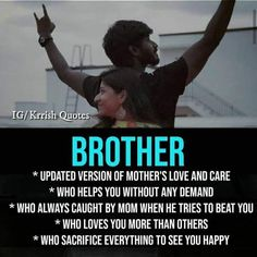 Brother Sister Relationship Quotes, Love My Brother Quotes, I Love My Brother, Relationship Quotes For Him, Happy Life Quotes, Crazy Girl Quotes, Motivational Quotes For Life, Bro Quotes, Inspirational Quotes