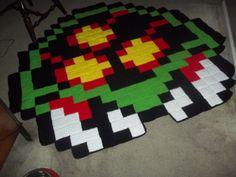 Giant Metroit Pixel Crochet Rug by harmonden