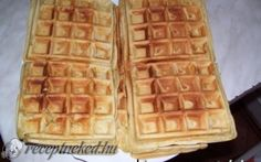 Isteni gofri recept fotóval Nutella, Waffles, Sandwiches, Food And Drink, Breakfast, Kitchen, Morning Coffee, Cooking, Kitchens